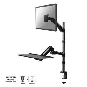 Newstar FPMA-D500KEYB werkplek bureausteun [1x 10 inch-27 inch, 9kg, vesa 75x75, 100x100, black]]