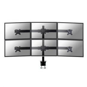 Newstar FPMA-D700D6 Monitor desk-mount [10-27inch, 0 - 180°, 75x75, 100x100mm, Clamp]