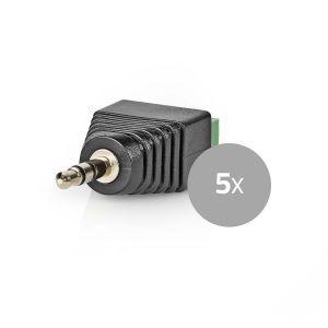 CCTV-Beveiligingsconnector | 5x | 3-Aderige naar 3,5 mm Male