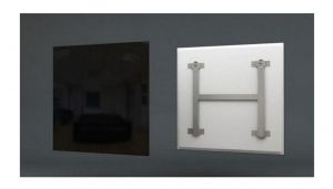 infrarood zwart glas verwarmingspaneel 60x120cm 600 Watt met smart switch (WIFI)