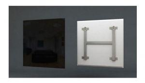 infrarood wit glas verwarmingspaneel 60x60cm 300 Watt met smart switch (WIFI)