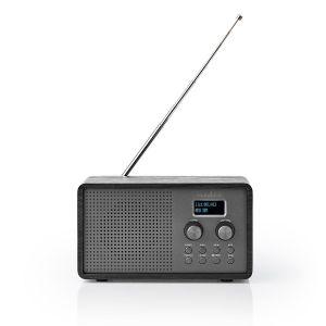 "DAB+ Radio Tafelmodel | DAB+ / FM | 1.3 "" | Zwart-Wit Scherm | Batterij Gevoed | Digitaal | 4.5 W | Wekker | Zwart"