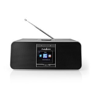 "Internetradio | Tafelmodel | Bluetooth® / Wi-Fi | DAB+ / FM / Internet | 2.4 "" | Kleurenscherm | 42 W | Afstandbestuurbaar | App-gestuurd | Koptelefoonoutput | Wekker | Slaaptimer | Zwart"