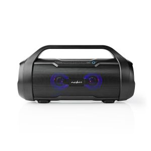Party Boombox Tot 6 Uur | 2 | 60 W | Media afspeelmogelijkheden: AUX / Micro-SD / USB | IPX5 | Koppelbaar | Handgreep | Zwart