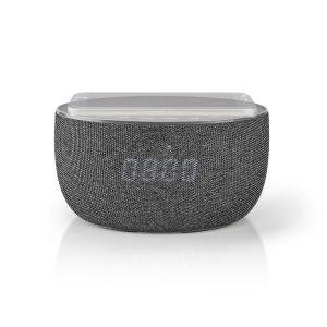 Bluetooth® Speaker met Draadloos Laden | 30 W | Tot 6 Uur Speeltijd | Wekkerradio | Grijs | LED Klok