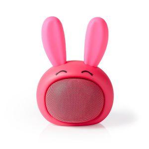 Bluetooth®-Speaker, Robby Rabbit, konijn Batterij speelduur: Tot 3 Uur | Handheld Ontwerp | 9 W | Mono | Ingebouwde microfoon | Koppelbaar | Animaticks Robby Rabbit | Roze