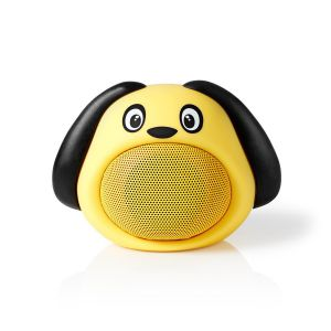 Bluetooth®-Speaker Batterij speelduur: Tot 3 Uur | Handheld Ontwerp | 9 W | Mono | Ingebouwde microfoon | Koppelbaar | Animaticks Dusty Dog | Geel