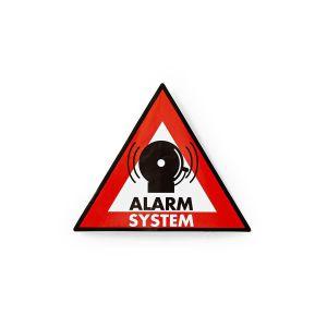 Waarschuwingssticker | Pictogram alarmsysteem | Set van 5 stuks