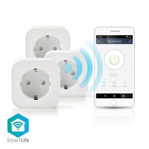 SmartLife Smart Stekker, 3 stuks, 2500 Watt, Schuko / Type-F (CEE 7/7), -10 - 45 °C, Android & iOS, Wi-Fi, Wit