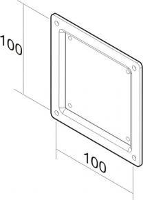 Newstar FPMA-VESA100 LCD VESA adapter plate [75 x 75mm -> 100 x 100mm, Black]