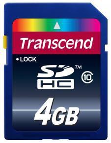 Transcend TS4GSDHC10 SDHC CARD [4GB SD 3.0 SPD Class 10]