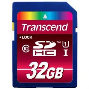 Transcend TS32GSDHC10U1 SDHC Card [32GB  UHS1-Class 10]