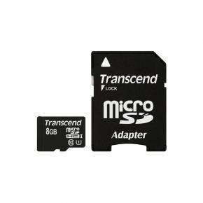 Transcend TS8GUSDU1 MicroSDHC [8GB Class10 U1 with adapter]