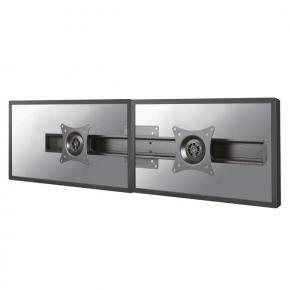 Newstar FPMA-CB200BLACK dubbele monitor adapter [2x 10 - 27 inch, 14kg, 75x75/ 100x100mm, Black]