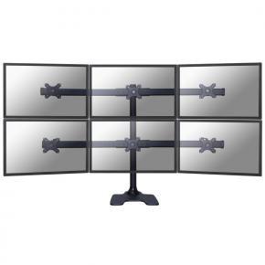 Newstar FPMA-D700DD6 Tilt/Turn/Rotate Desk Mount [6x 10 - 27 inch, 48kg, 32 - 88 cm, 75x75/ 100x100mm]