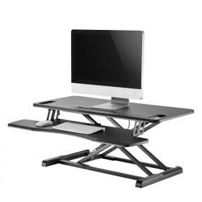 Newstar NS-WS300BLACK Sit-Stand Desktop Workstation [1x 17kg, 11 - 51 cm, Black]