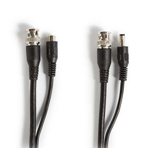 CCTV-beveiligingskabel BNC / DC   RG59   10 m   Voorgemonteerde connectoren