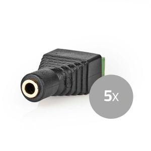 CCTV-Beveiligingsconnector | 5x | 3-aderig naar 3,5 mm Female