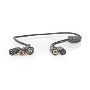 Microfoon voor CCTV-beveiligingscamera   BNC + DC naar BNC + DC + RCA