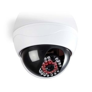 Dummy beveiligingscamera | Dome | Wit