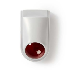 Dummy beveiligings-sirene | IP44 | Wit / rood