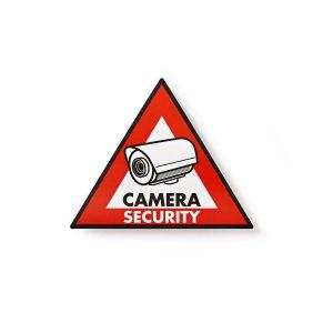 Waarschuwingssticker | Pictogram camerabeveiliging | Set van 5 stuks