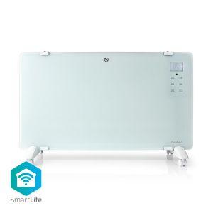Slimme Convectorkachel met Wi-Fi | Thermostaat | Glazen Frontpaneel | 2000 W | Wit