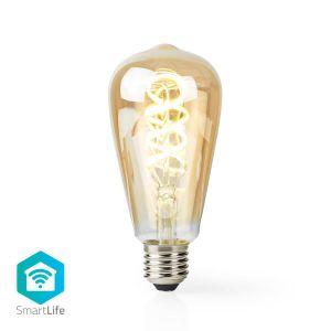 Wi-Fi Warm tot Koel Wit LED Filamentlamp| Gedraaid | E27 | ST64 | 5,5 W | 350 lm