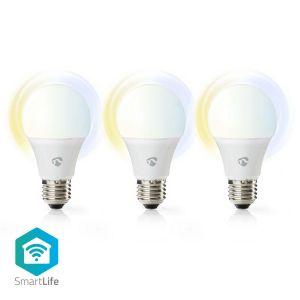 Wi-Fi Smart LED Bulb | Warm to Cool White | E27 | 3-Pack