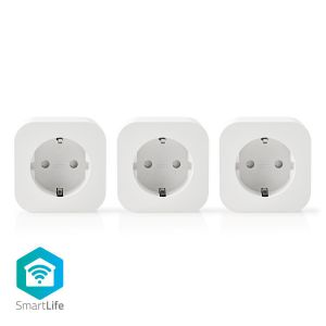 Wi-Fi Smart-Stekker | Schuko Type-F | 10 A | 3-Pack